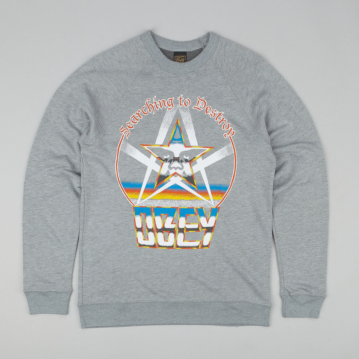 Obey Search To Destroy Sweatshirt Heather Grey