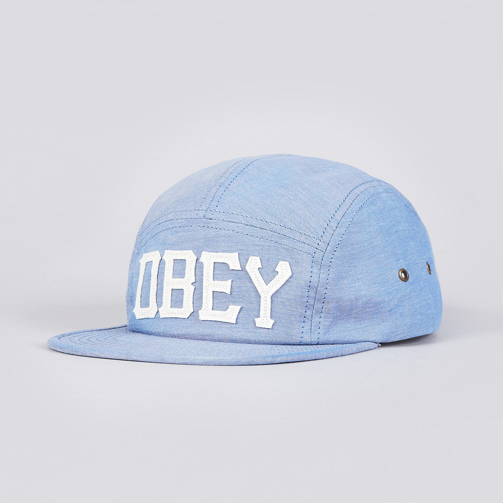 Obey Stadium 5 Panel Cap Indigo Chambray