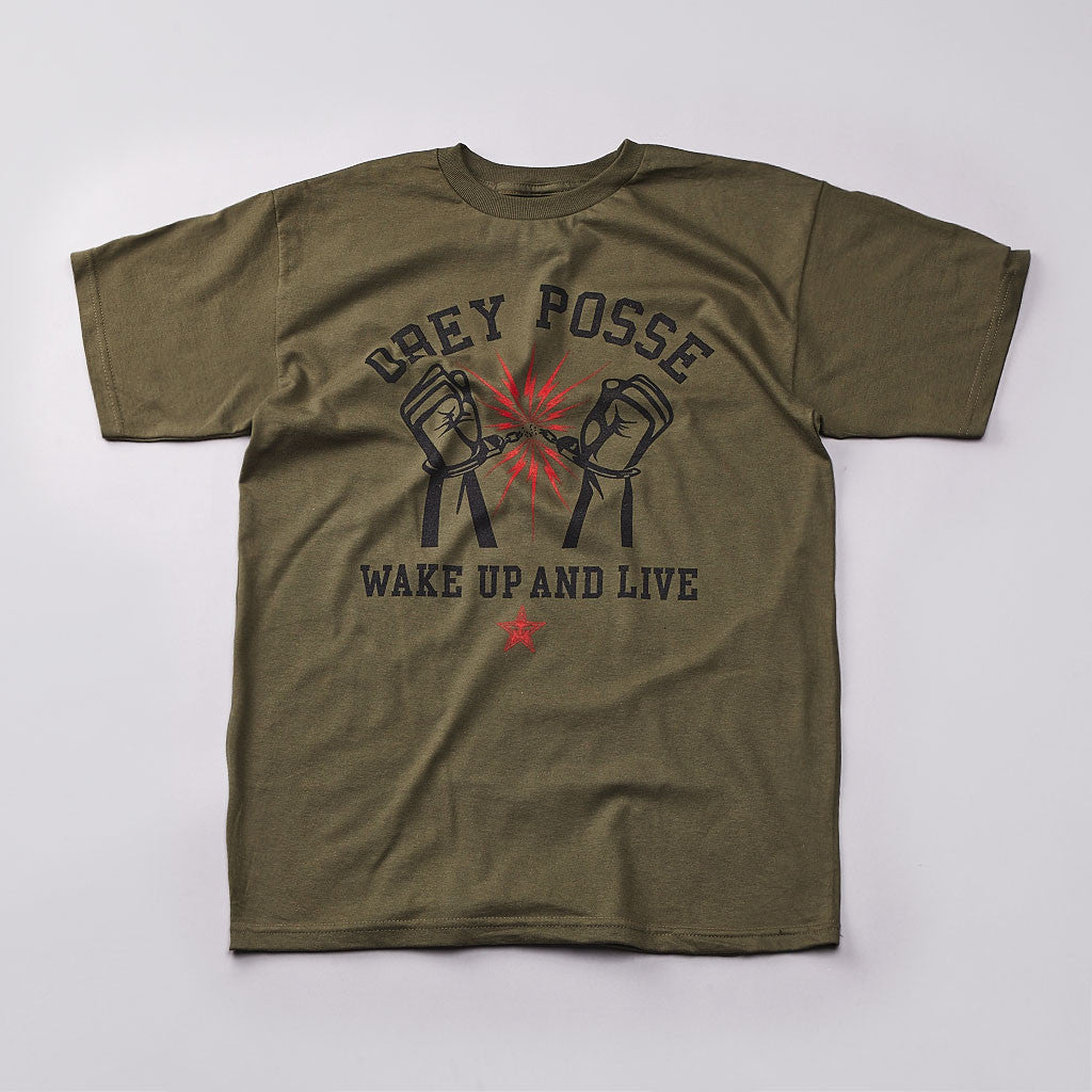 Obey Youth Crew T Shirt Olive