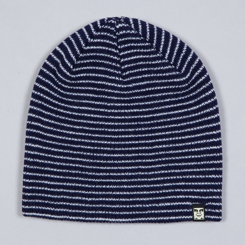 OBEY CHAMBER BEANIE NAVY / WHITE