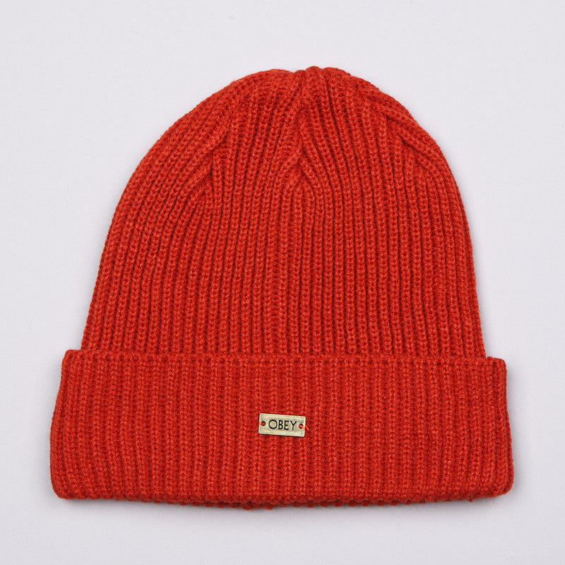 Obey Dover Beanie Rust