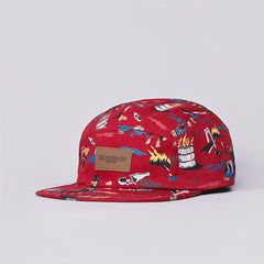 Obey City Hunting 5 Panel Cap Burnt Henna