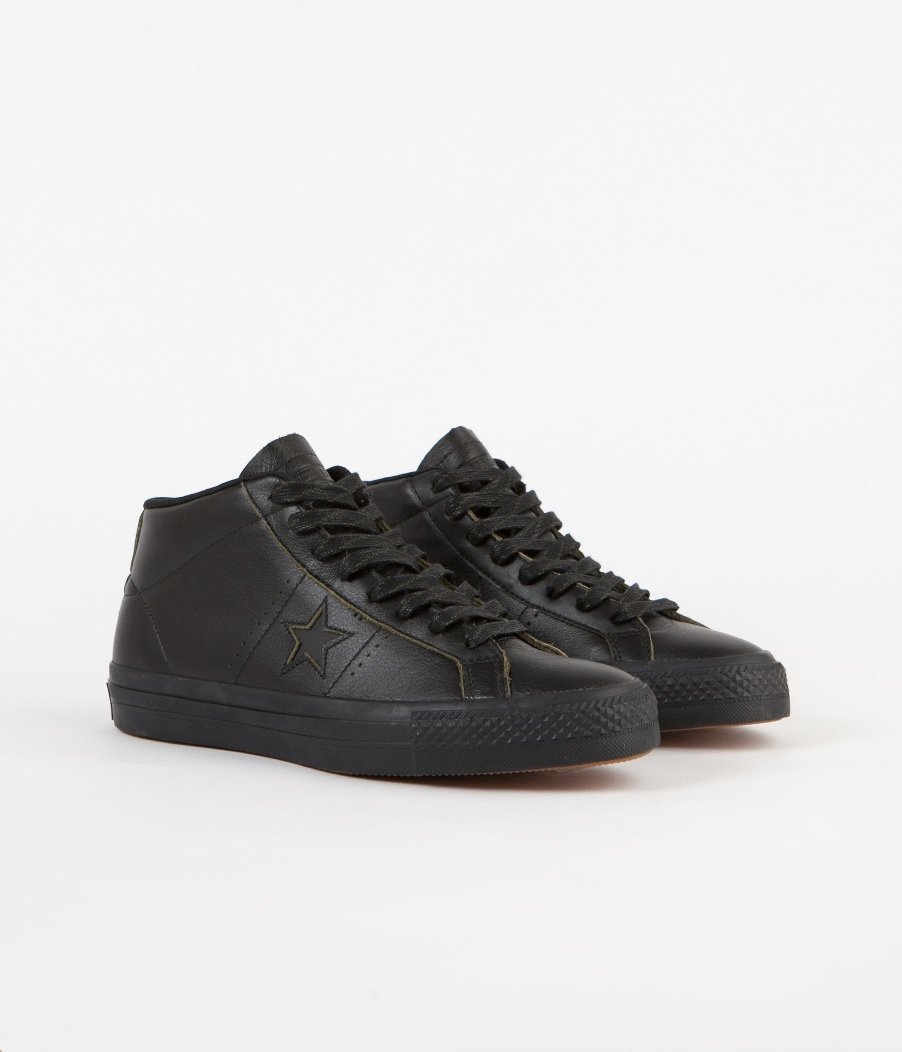 Converse One Star Pro Mid Shoes - Black / Black / Black