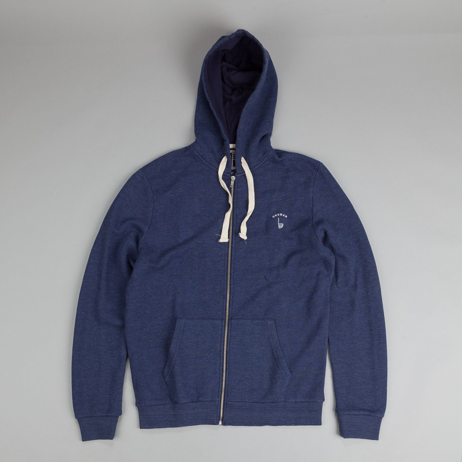 Orsman EMB Zip Hood SD Blue