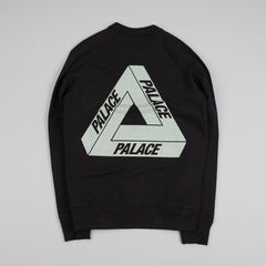 Palace 3M Crew Sweatshirt Black