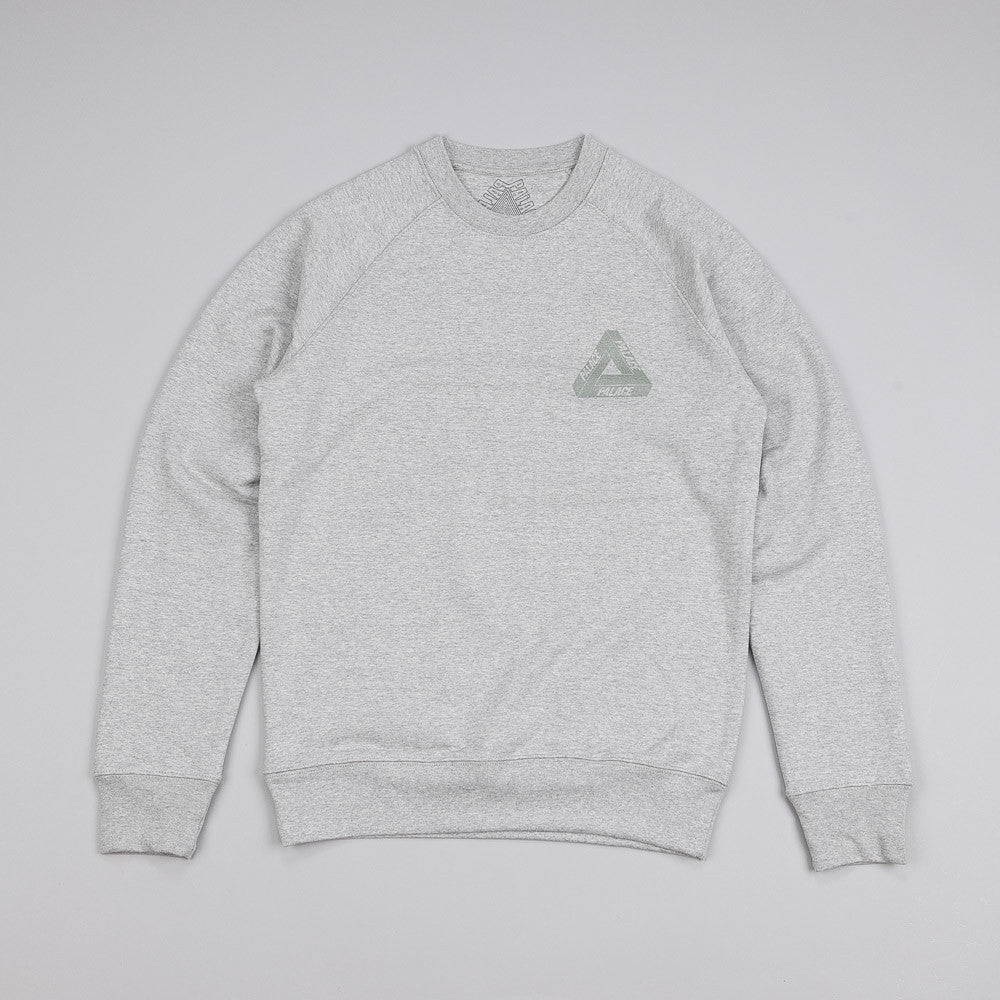 Palace 3M Crew Sweatshirt Grey