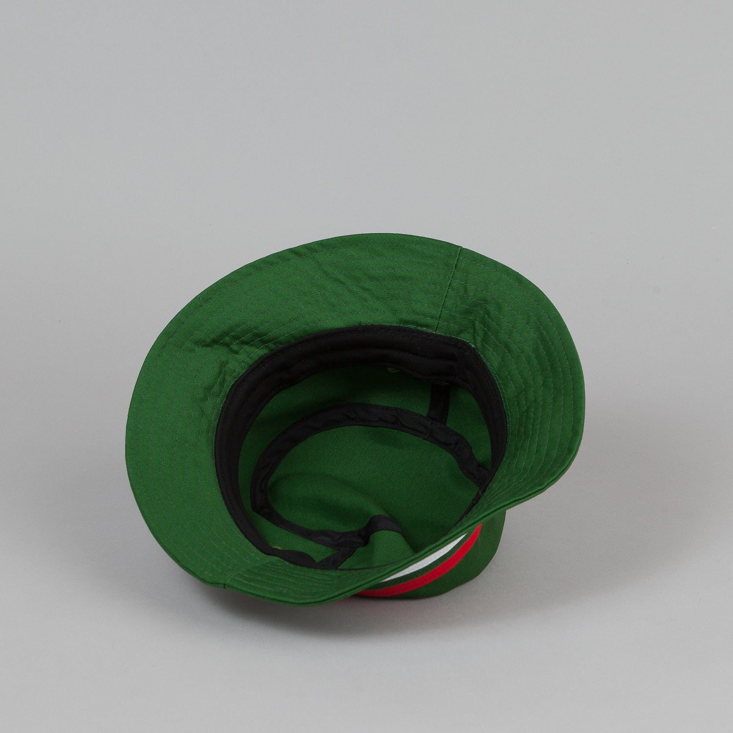 Palace Bucket Hat - Green / Striped Trim