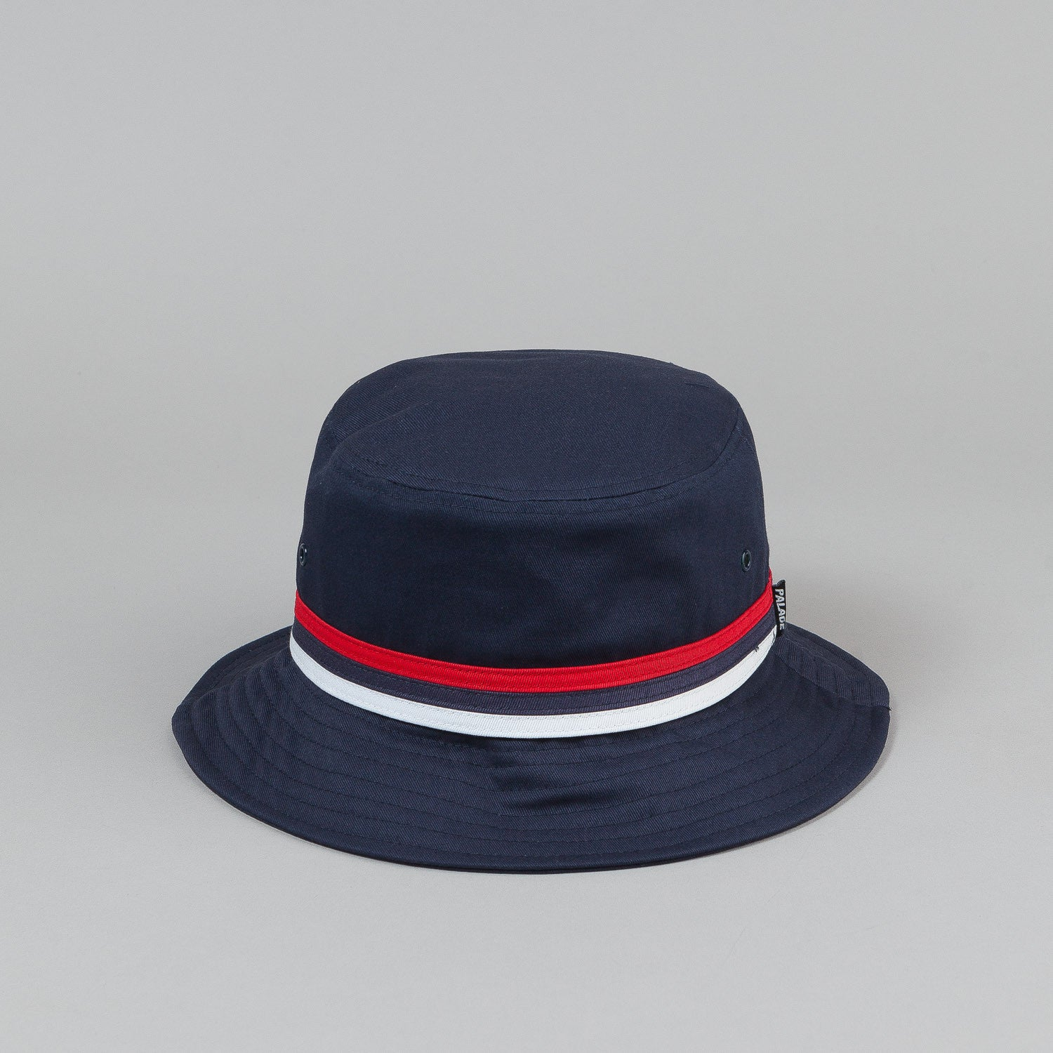 Palace Bucket Hat - Navy / Striped Trim