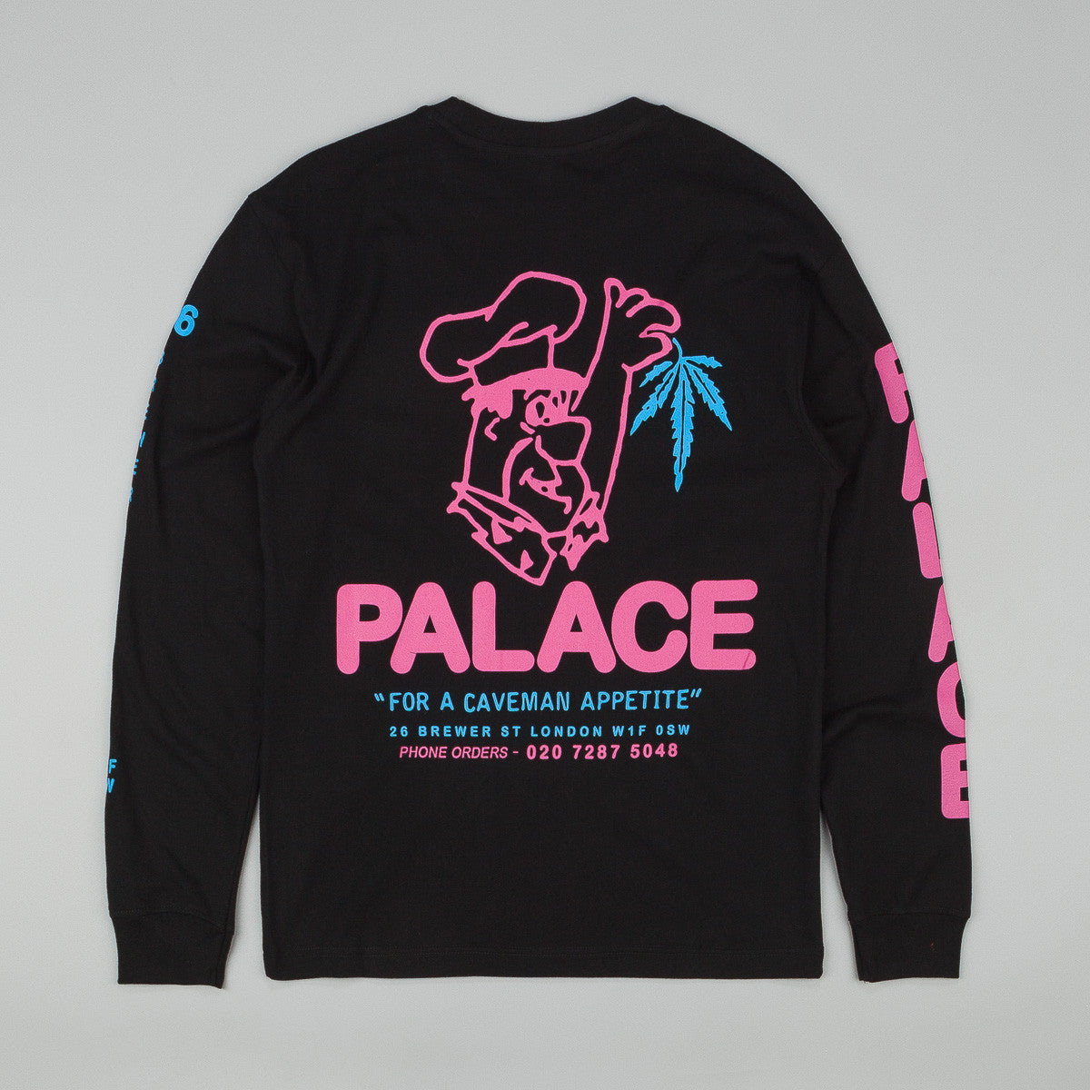 Palace Caveman Long Sleeve T-Shirt - Black