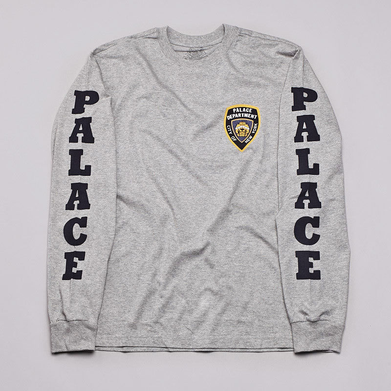 Palace Department Long Sleeve T Shirt Grey