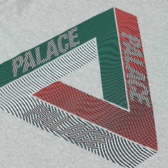 Palace Drury Italia T-Shirt - Grey Heather