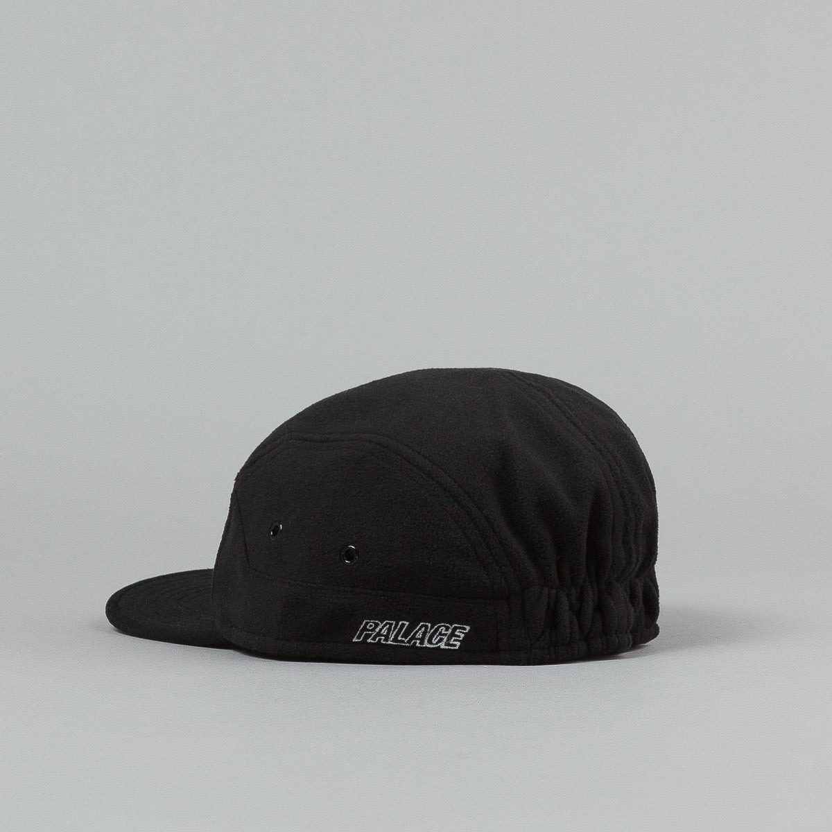 Palace Fleece 7 Panel Cap - Black