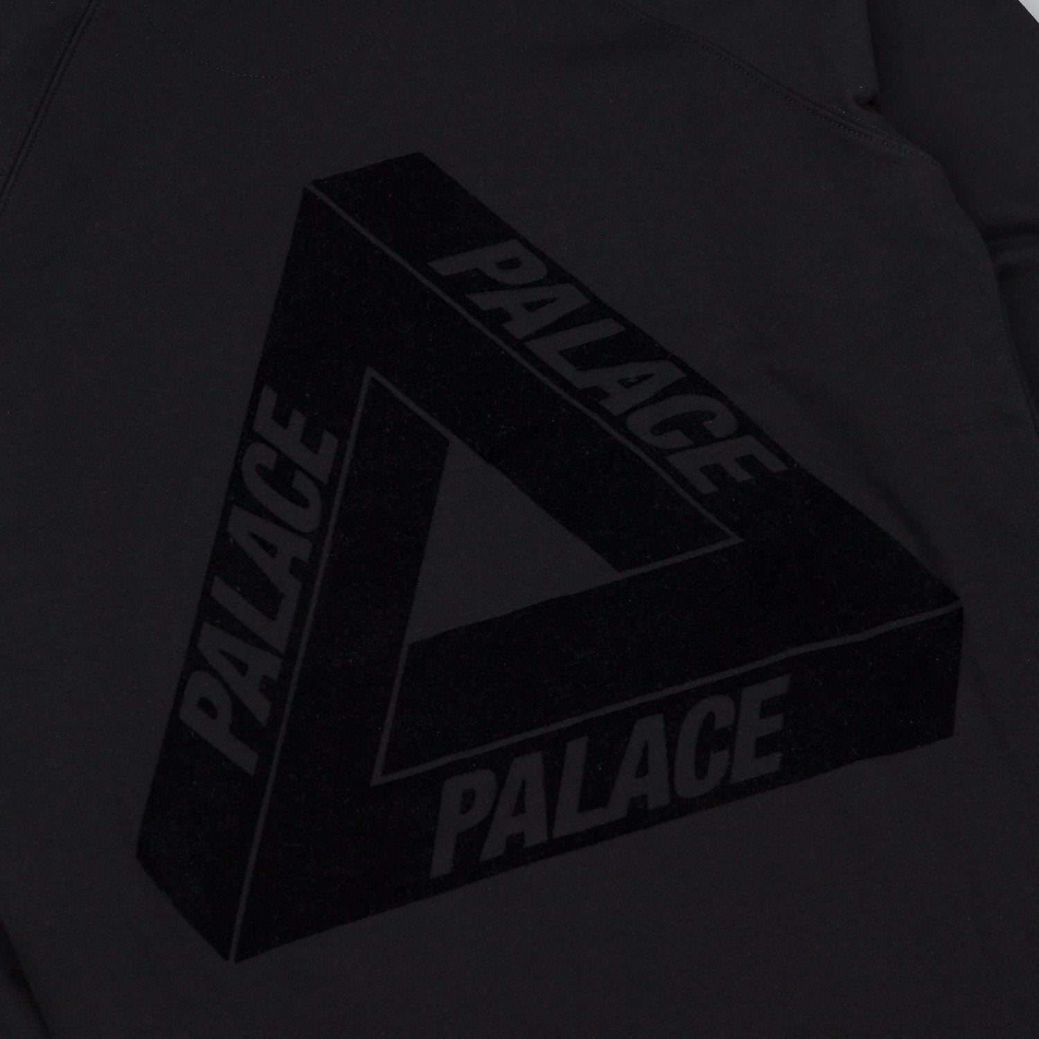 Palace Flocka Hooded Sweatshirt - Black