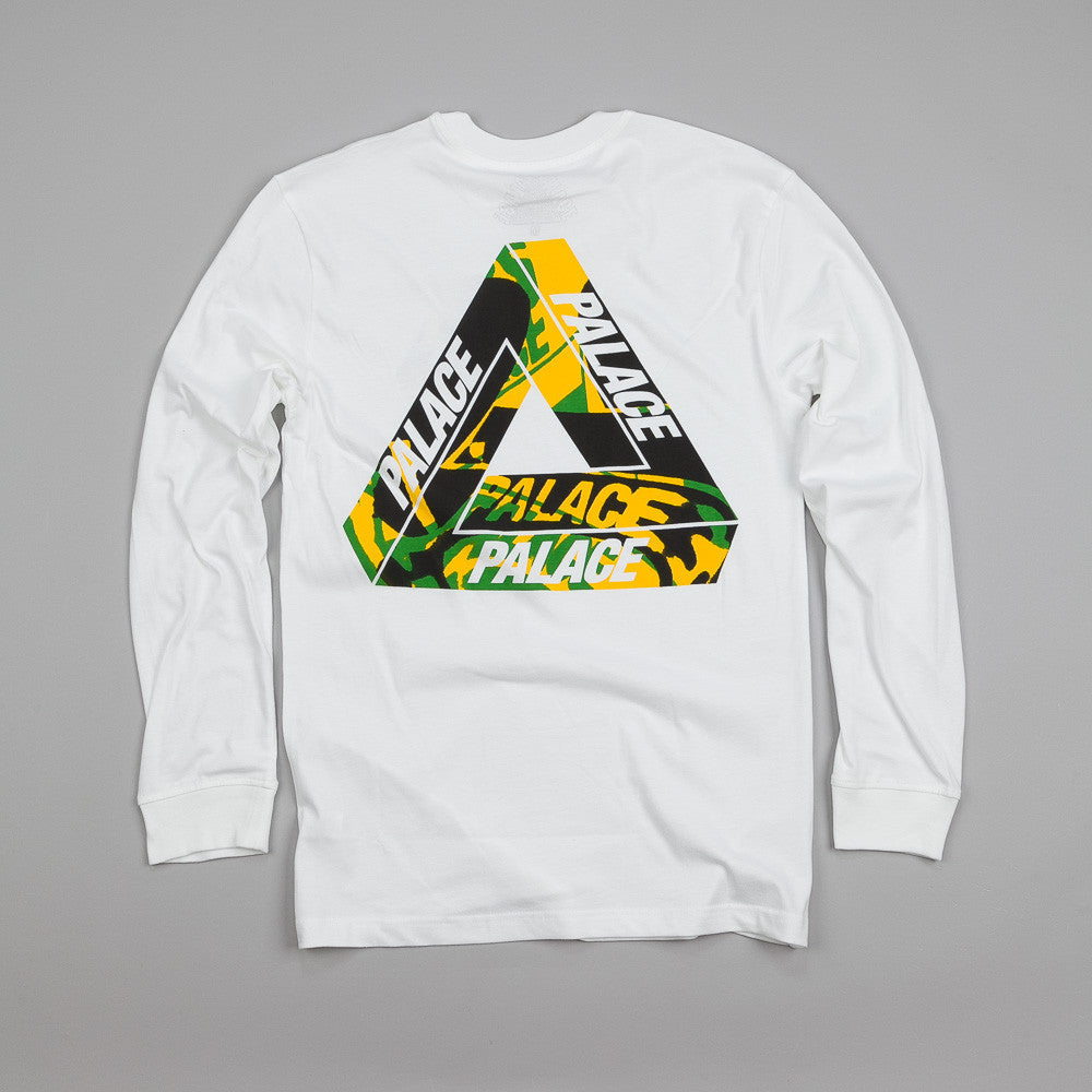 Palace L/S One Wave Yard T Shirt White