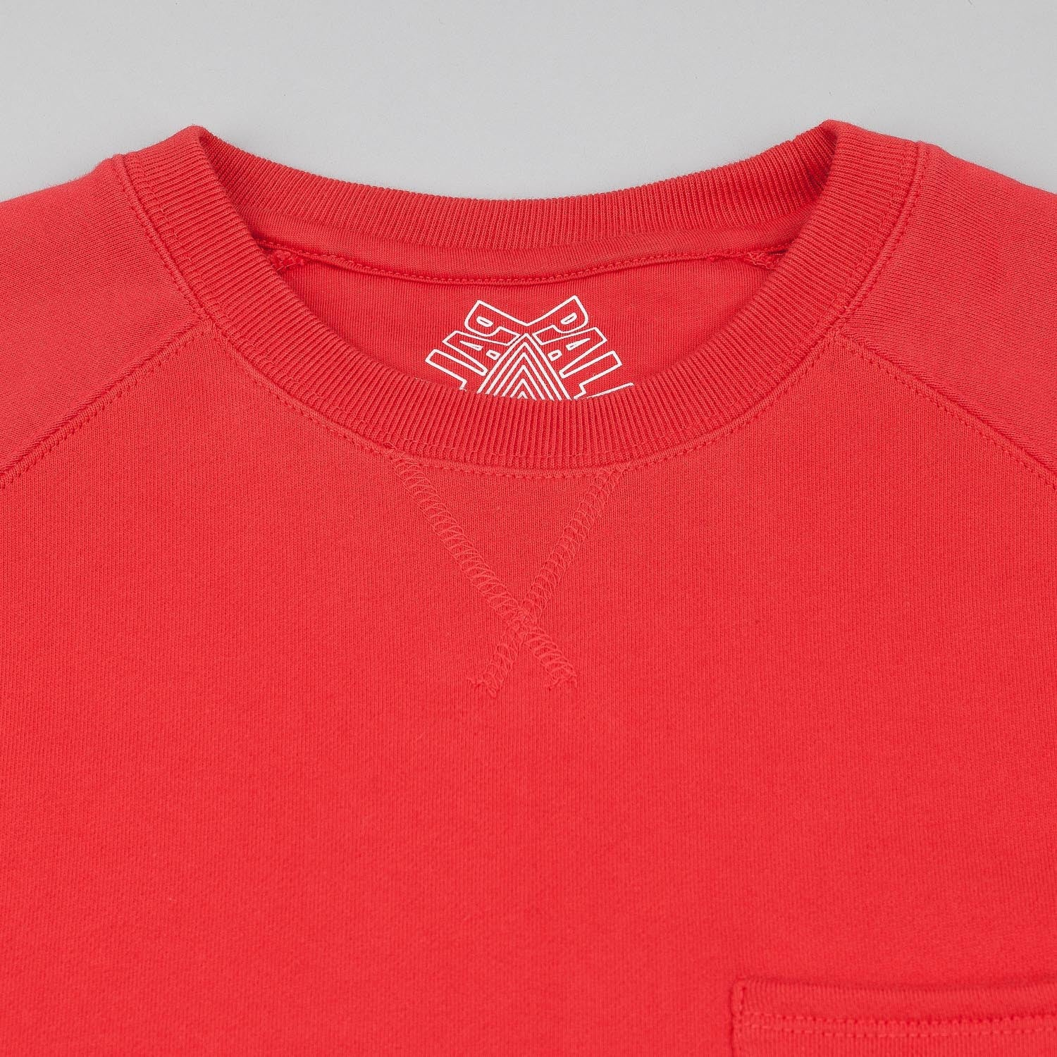 Palace Lips Crew Neck Sweatshirt - Red