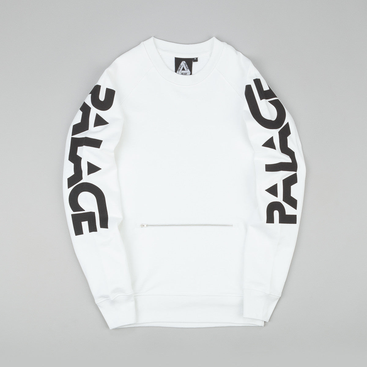 Palace Motor Crew Neck Sweatshirt - White