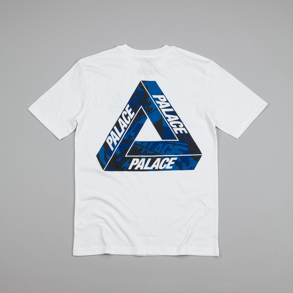 Palace One Wave Blue T Shirt White