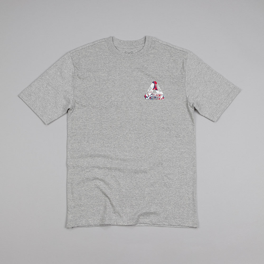 Palace One Wave Brit T Shirt Grey