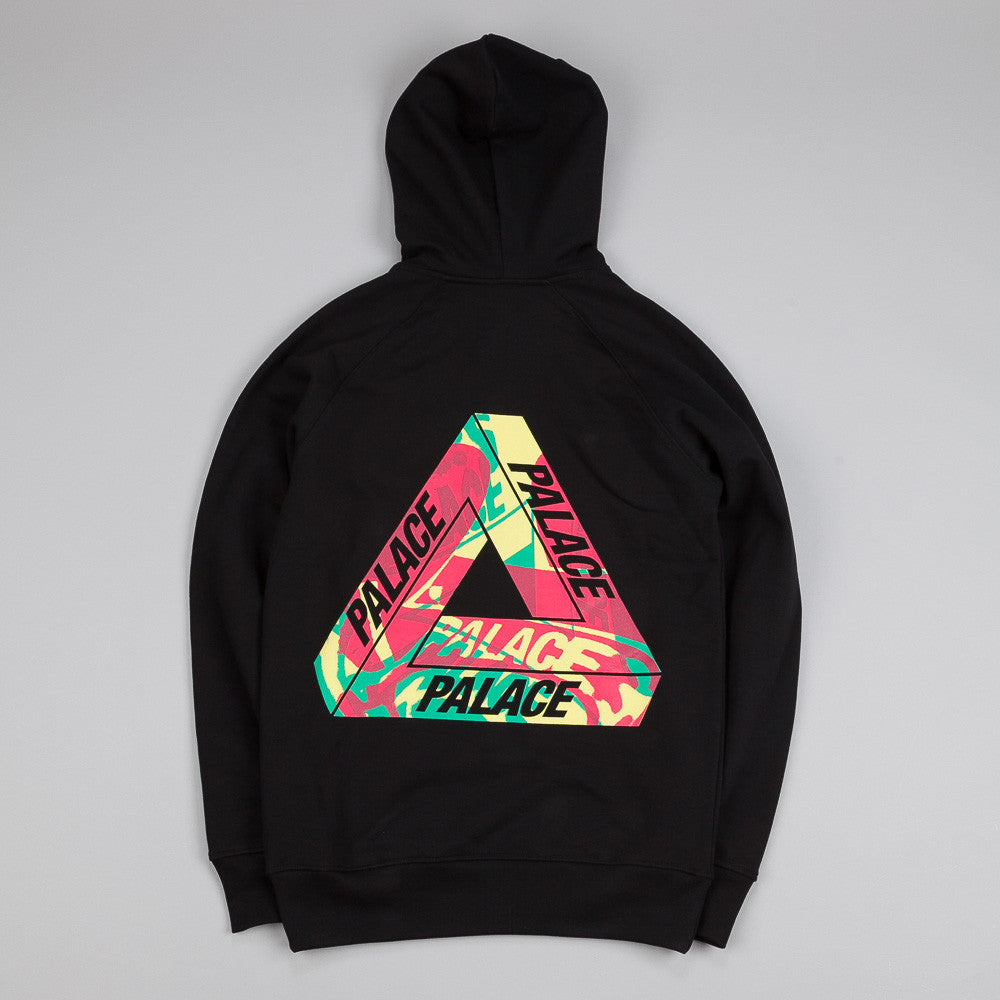 Palace One Wave Rasta Hooded Sweatshirt Black