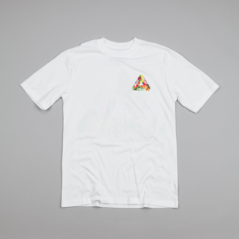 Palace One Wave Rasta T Shirt White