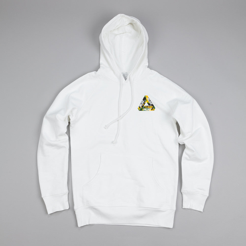 Palace One Wave Yard Hooded Sweatshirt White