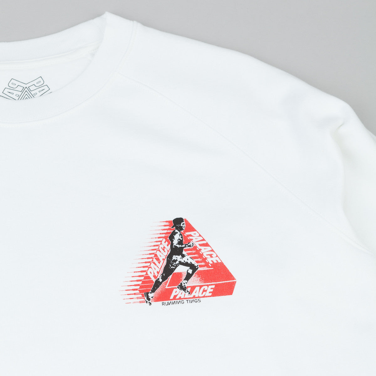 Palace Running Tings Crew Neck Sweatshirt - White