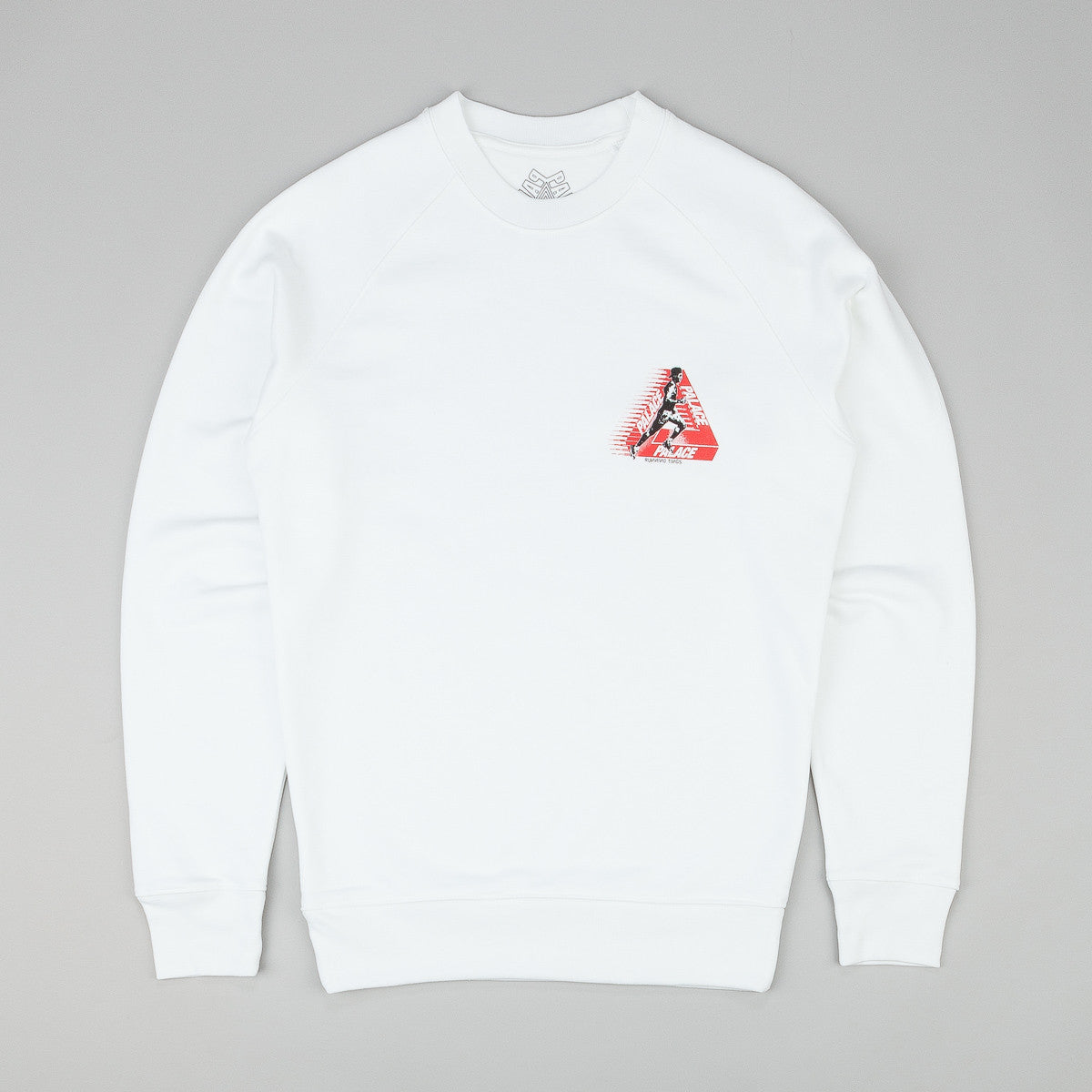 Palace Running Tings Crewneck Sweatshirt - White