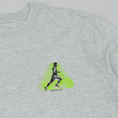 Palace Running Tings T-Shirt - Grey Heather