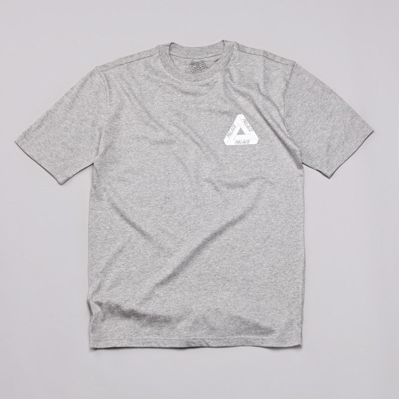 Palace Tri-Line Brit T Shirt Grey