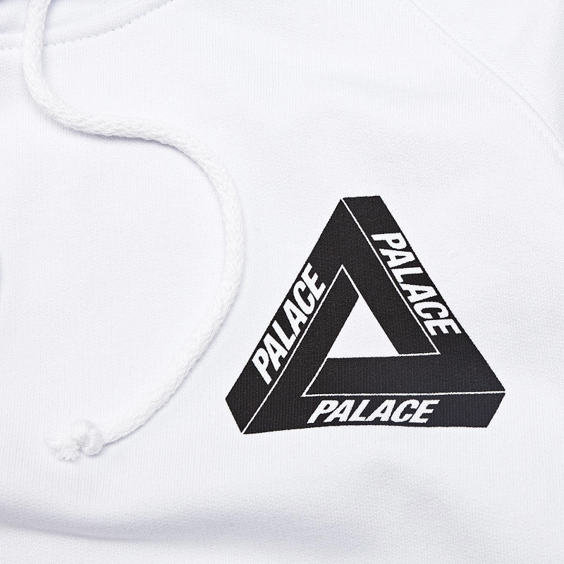 Palace Tri-Line Hooded Sweatshirt White