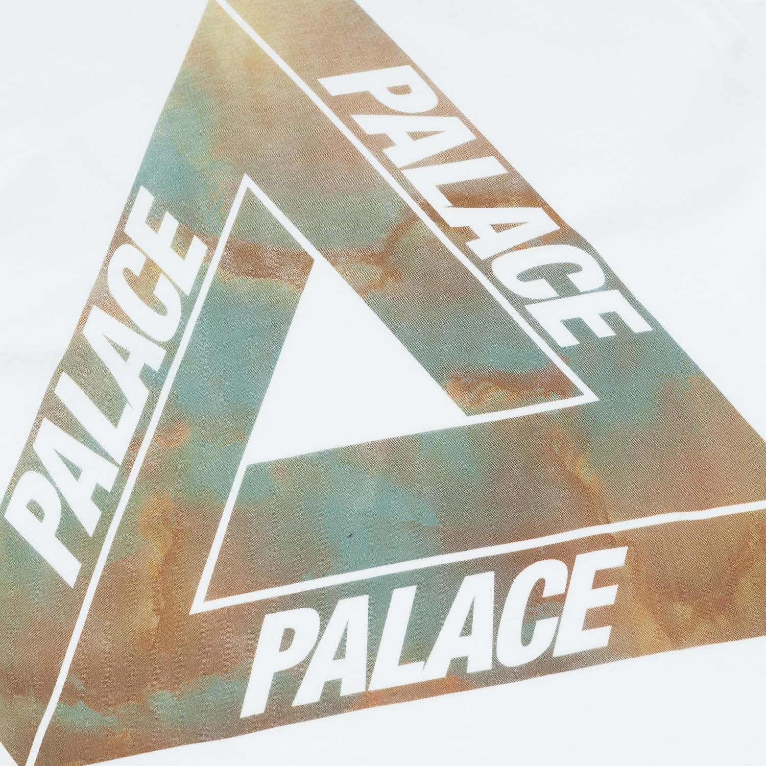 Palace Tri-Marbles L/S T-Shirt - White