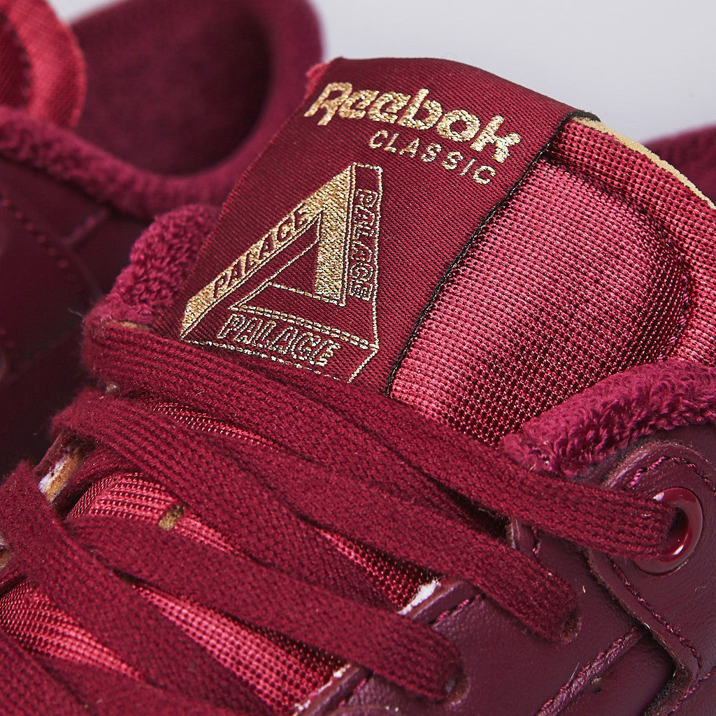 Palace X Reebok Workout Clean Low Burgundy / White