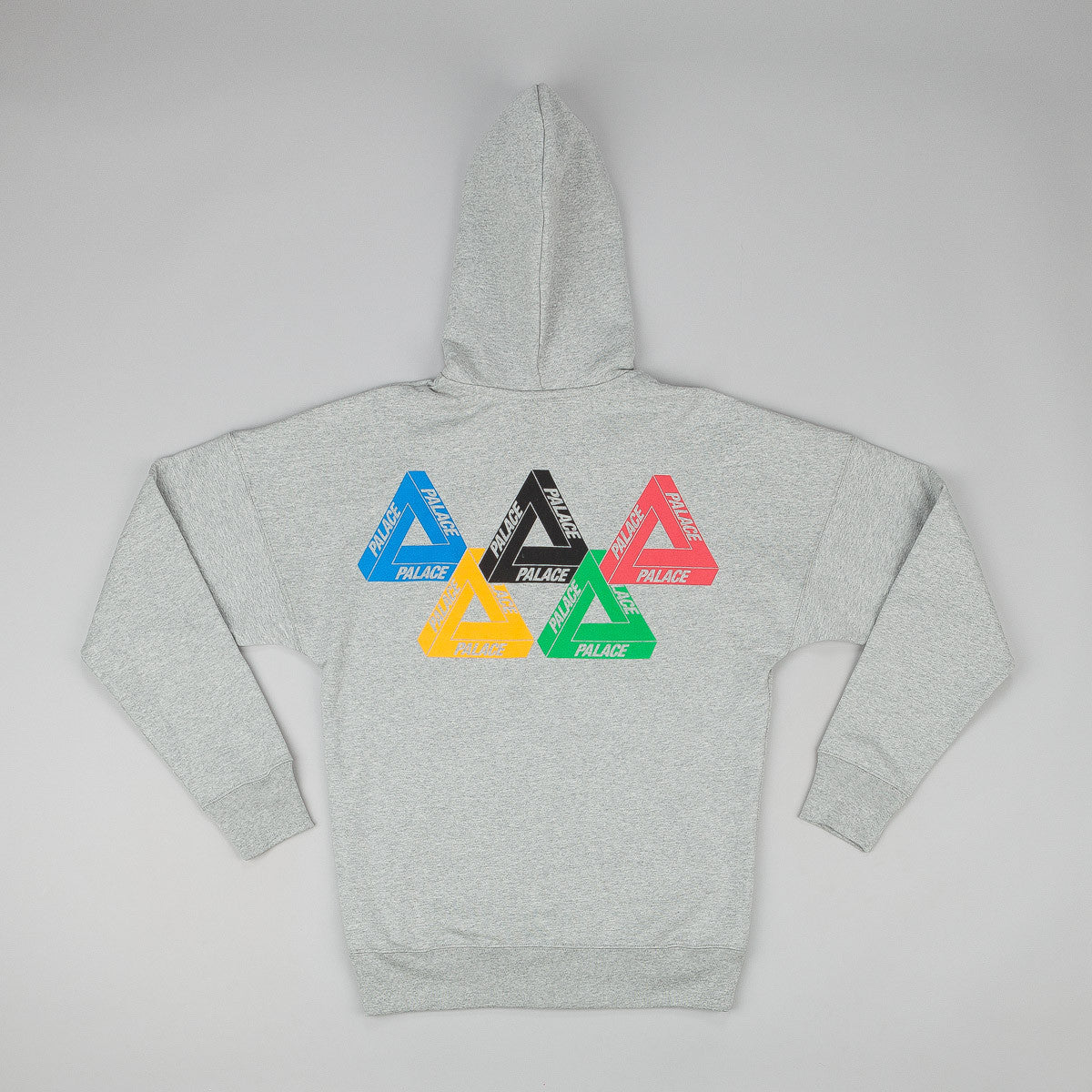 Palace Zip Olympic Hooded Sweatshirt - Grey