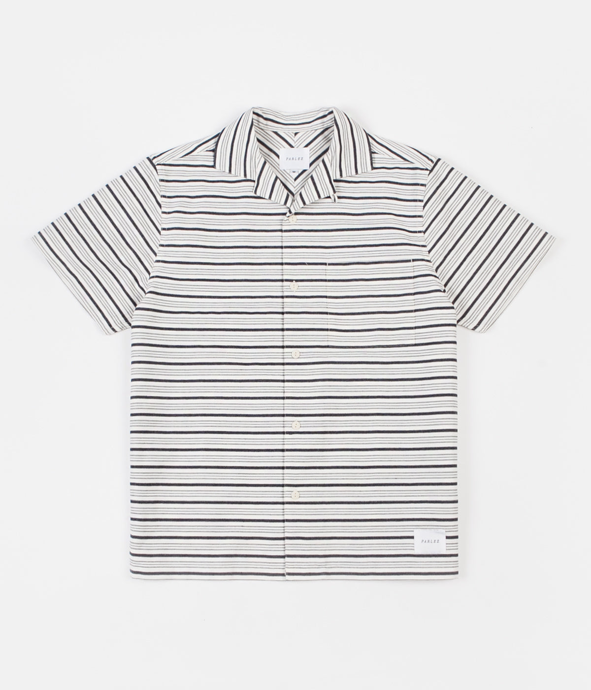 Parlez Galeas Short Sleeve Shirt - White Stripe