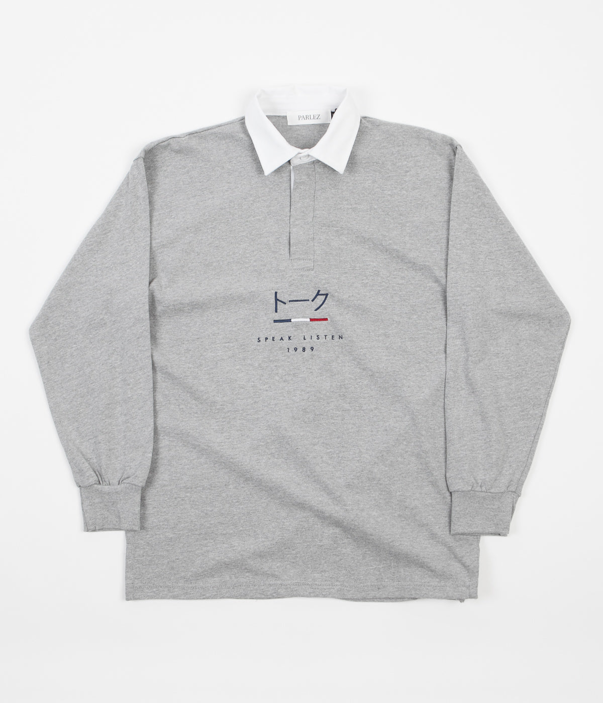 Parlez Kiku Rugby Shirt - Heather Grey