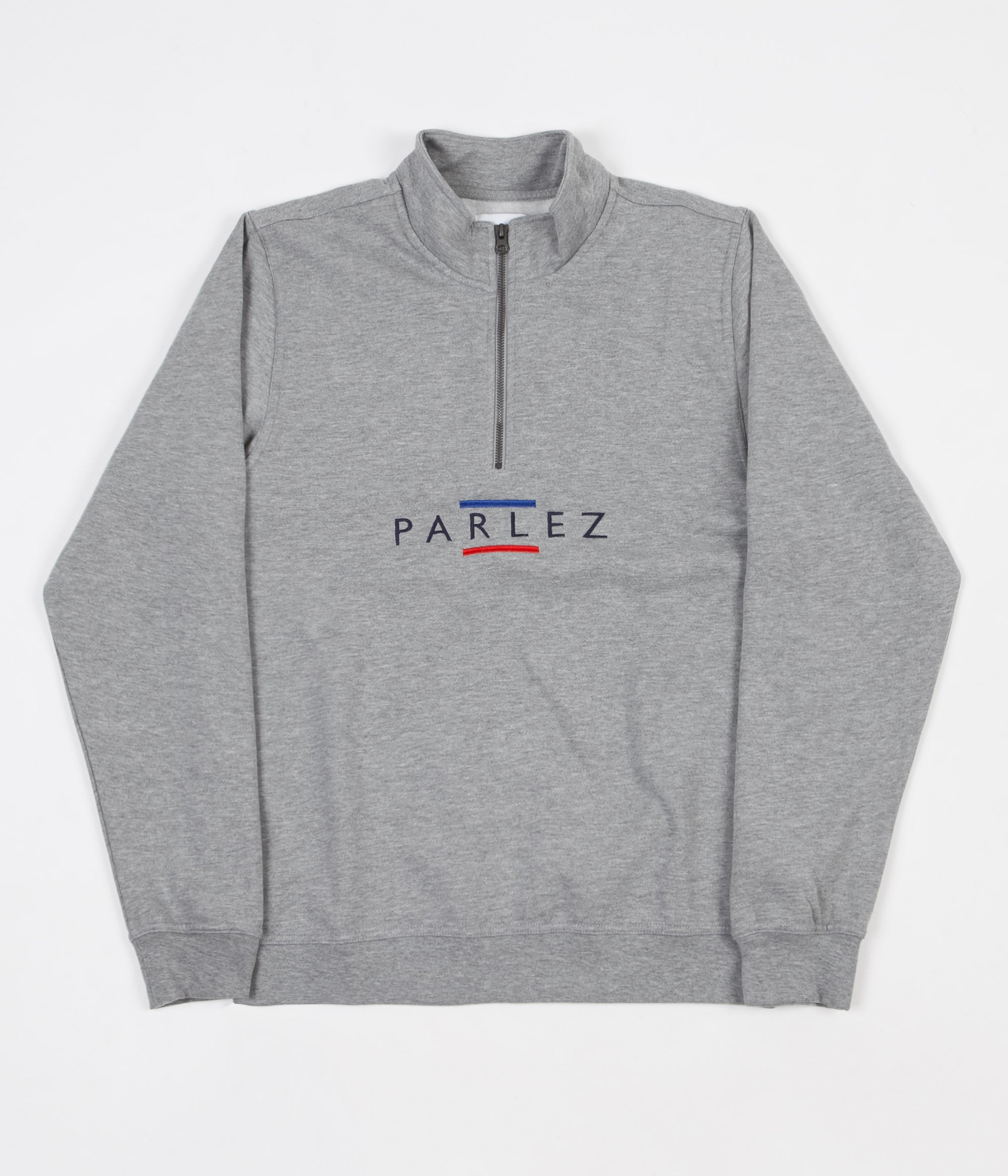 Parlez Line Quarter Zip Sweatshirt - Heather