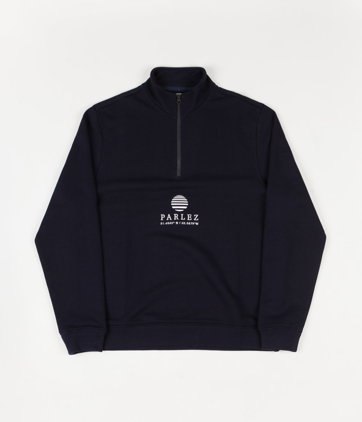 Parlez Purcel 1/4 Zip Sweatshirt - Navy