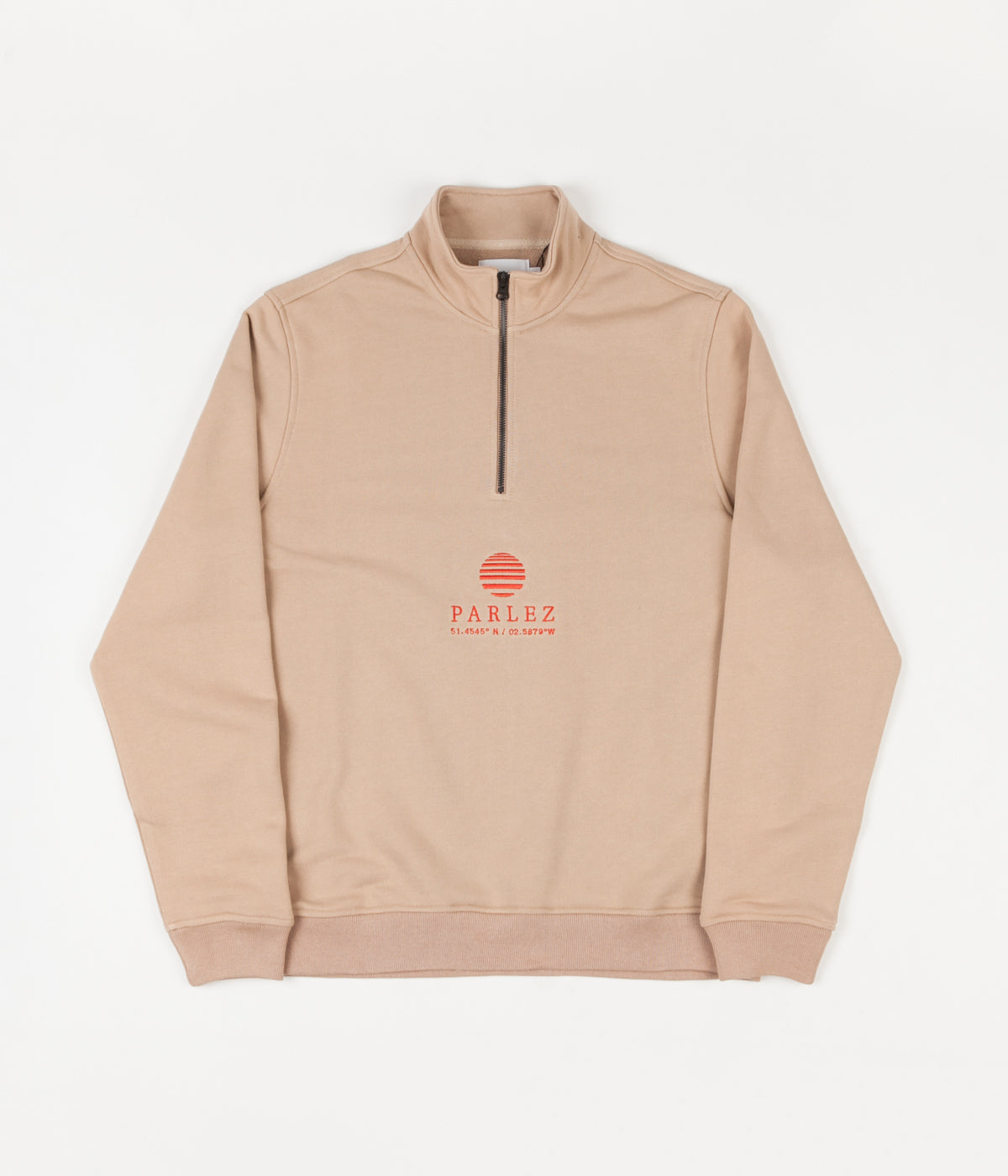 Parlez Purcel 1/4 Zip Sweatshirt - Sand