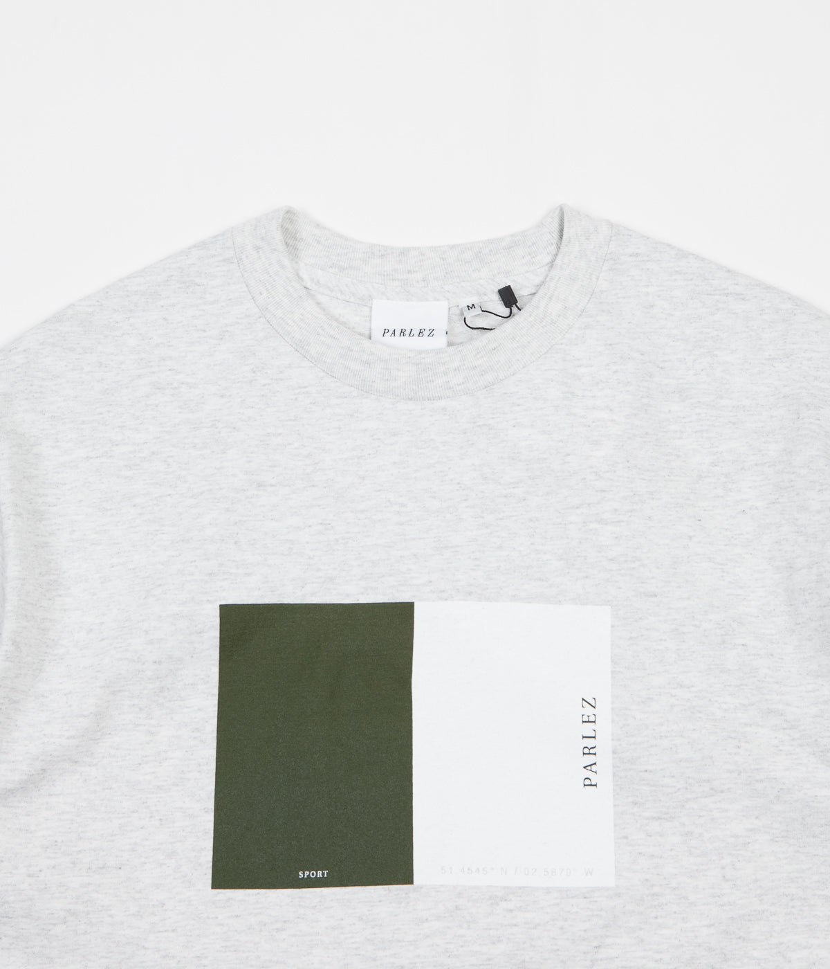 Parlez Split T-Shirt - Light Heather
