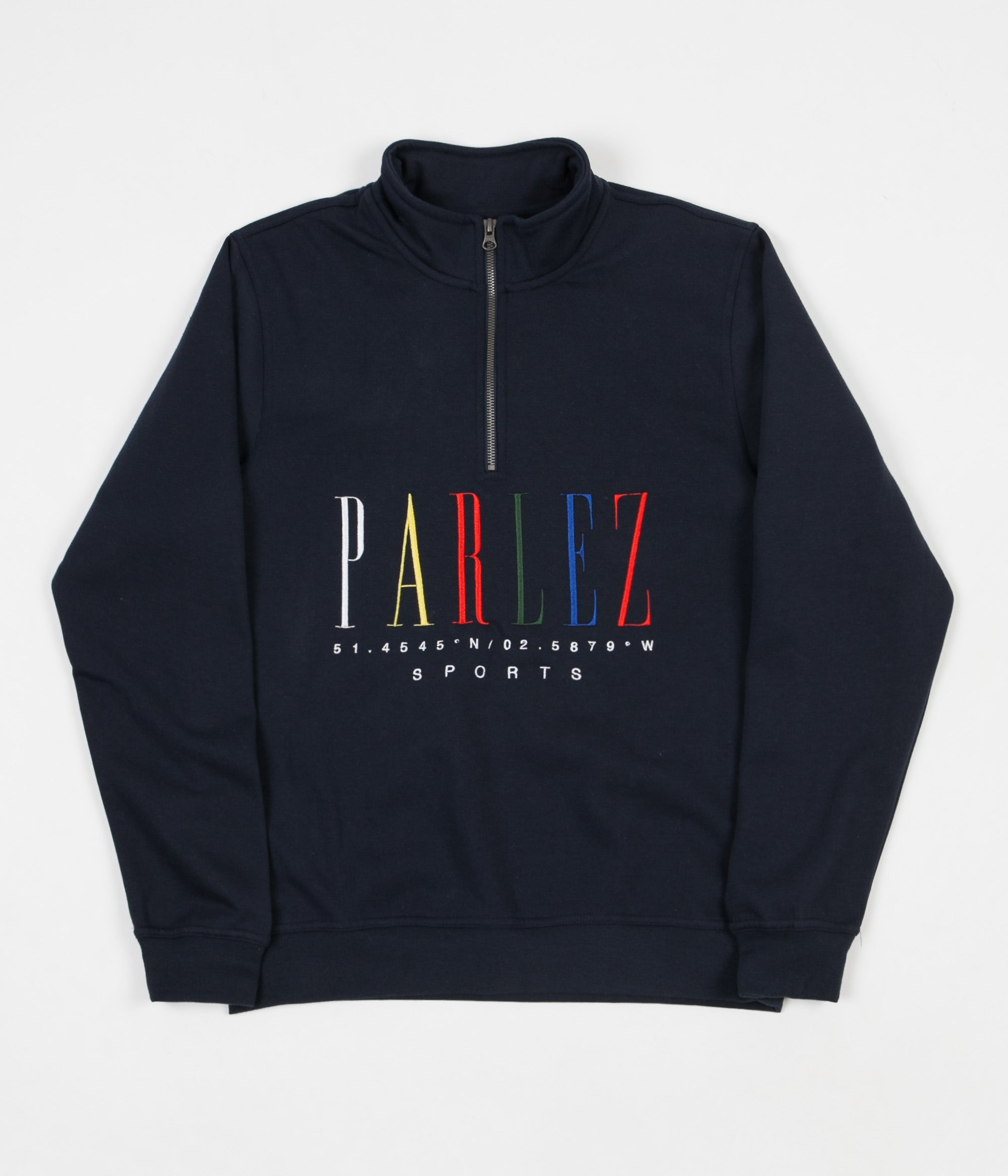 Parlez Tall Quarter Zip Sweatshirt - Navy