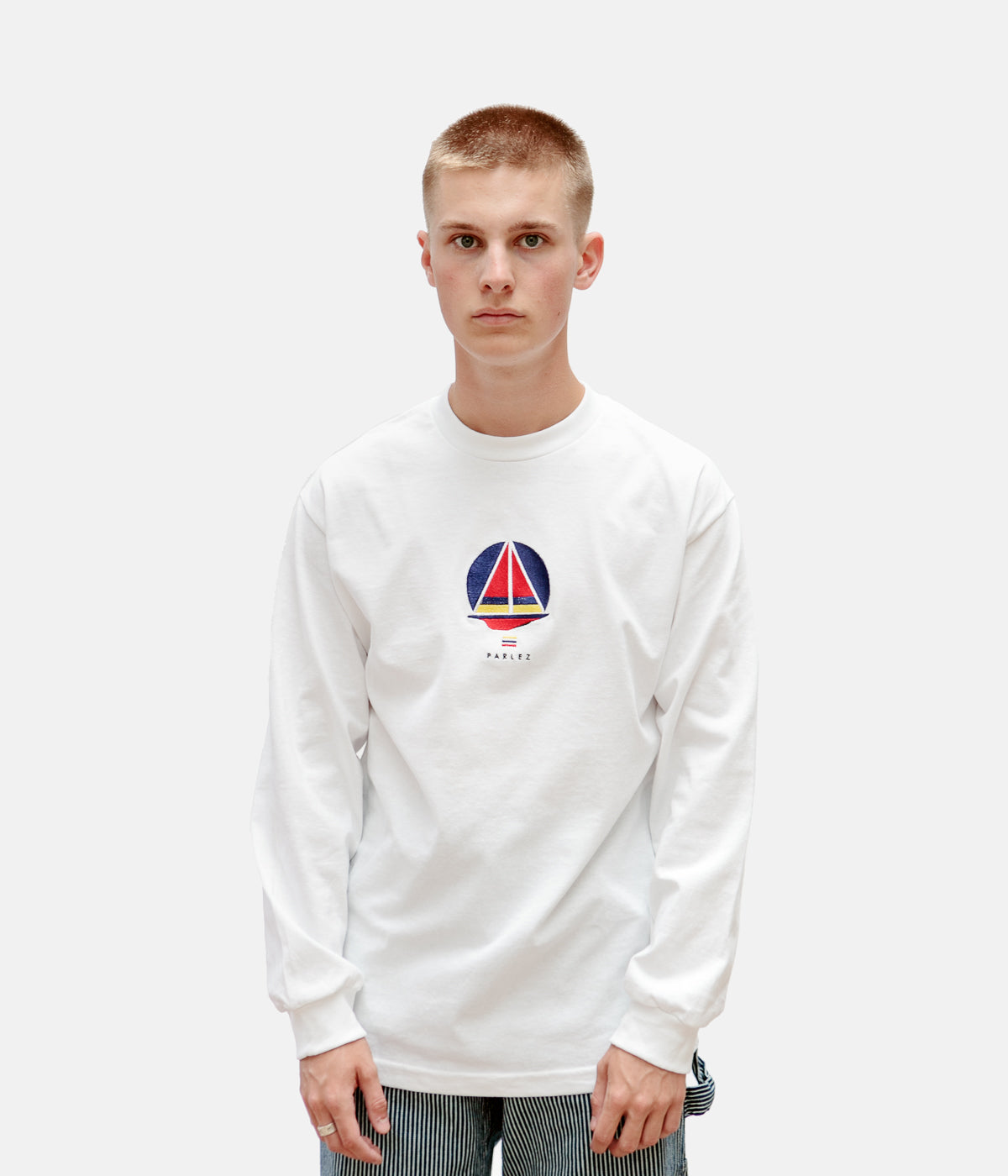 Parlez x Flatspot Ranger Long Sleeve T-Shirt - White