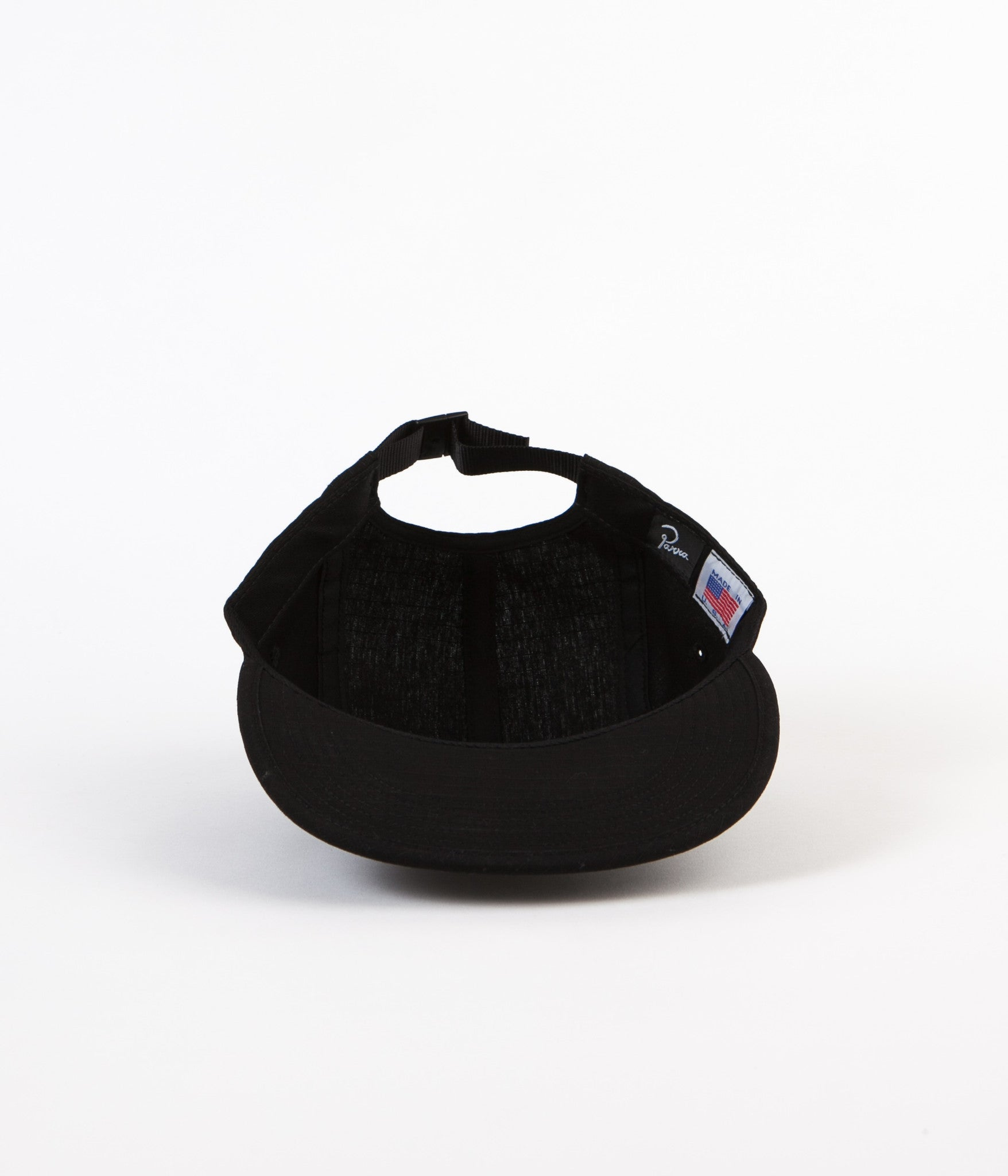 Parra Signature 5 Panel Cap - Black Ripstop