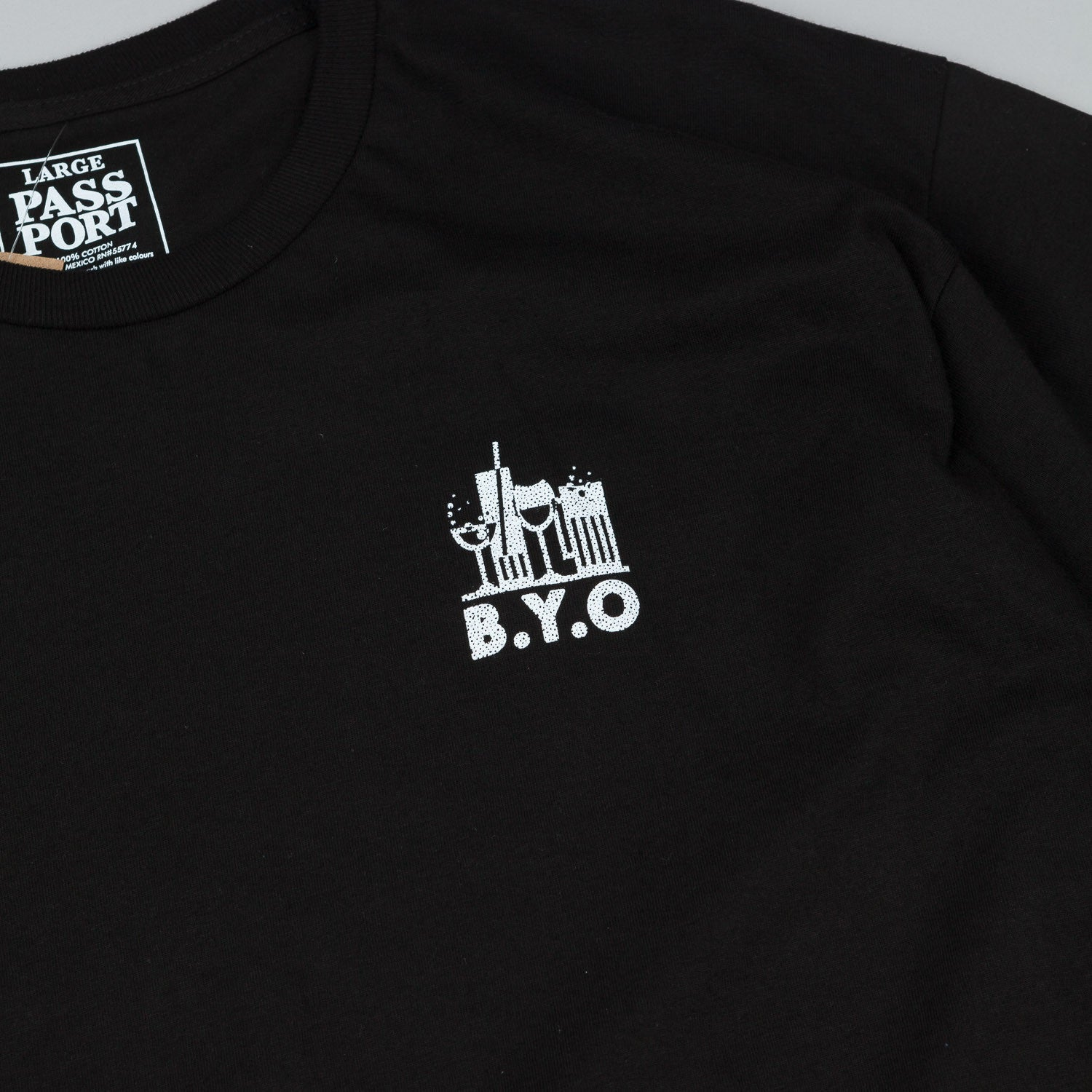 Pass Port B.Y.O T-Shirt - Black