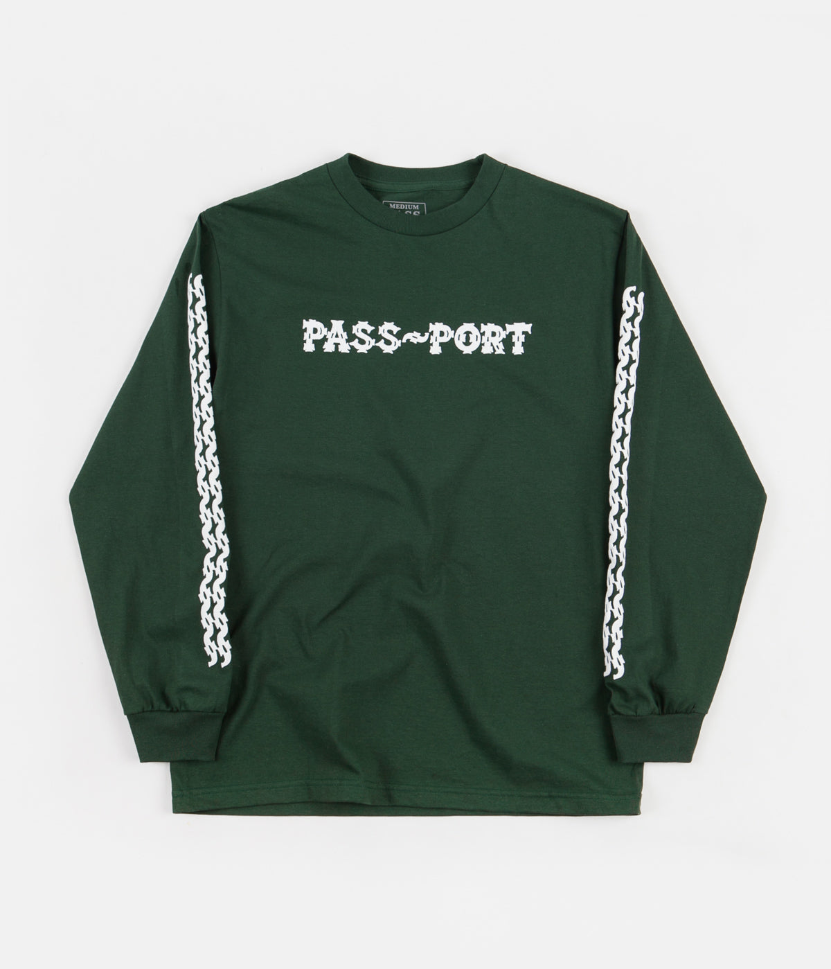 Pass Port Barbs Long Sleeve T-Shirt - Forest Green