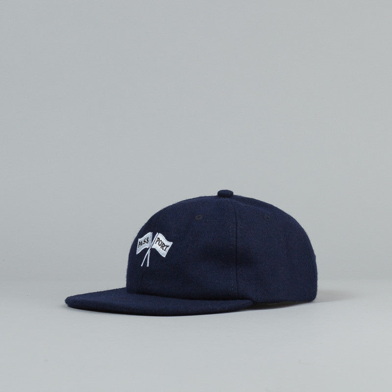 Pass Port Cross Flags Wool 6 Panel Cap