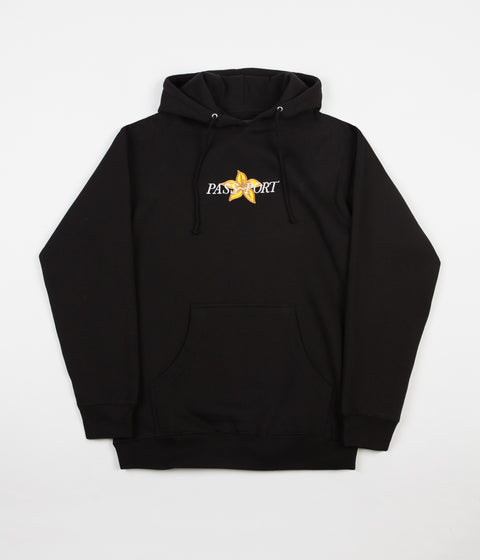 Pass Port Daffodil Applique Hoodie - Black
