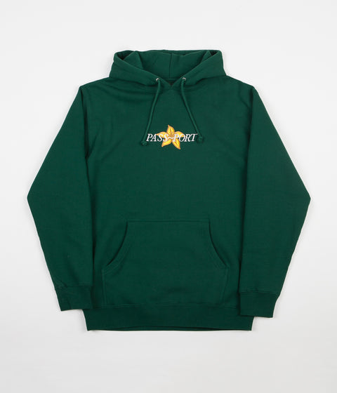 Pass Port Daffodil Applique Hoodie - Forest Green