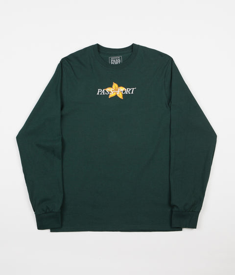 Pass Port Daffodil Applique Long Sleeve T-Shirt - Forest Green
