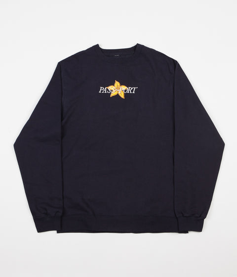 Pass Port Daffodil Applique Sweatshirt - Navy