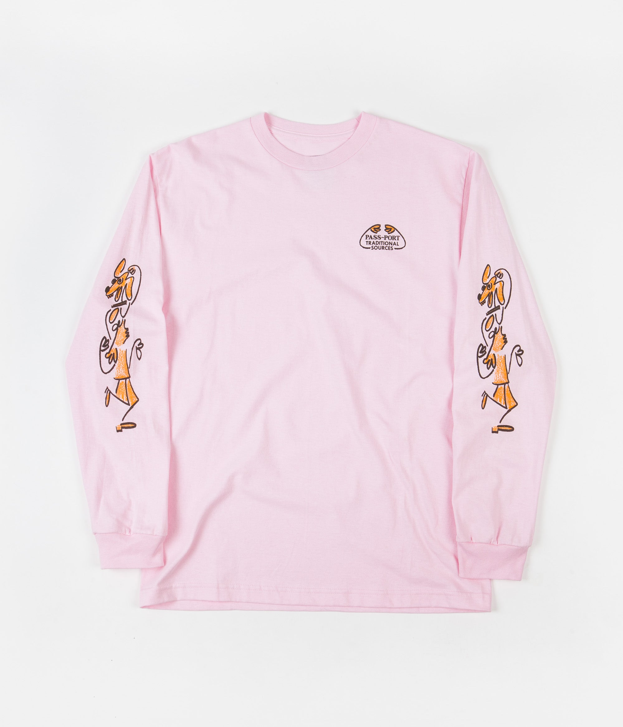 Pass Port Dancing Steps Long Sleeve T-Shirt - Pink